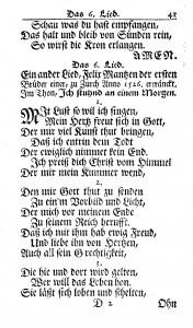 Manz, 1742 Ausbund, No. 6 (1)